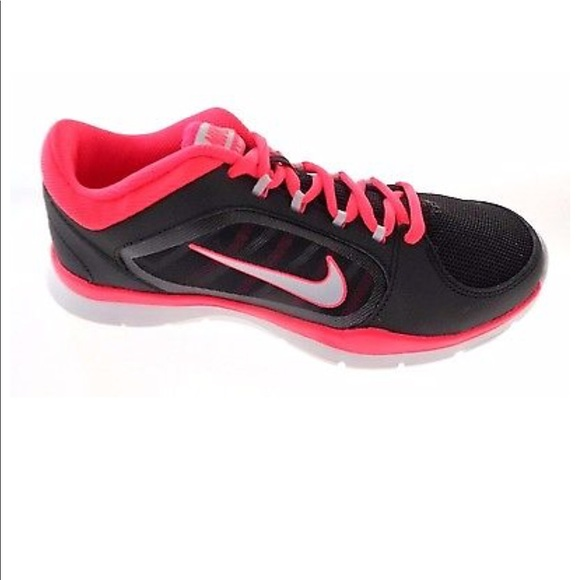Nike Flex Trainer 4 Women Damen Trainingsschuhe schwarz//rot black//prpltn